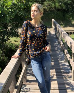 Russet Fall Open Back Blouse