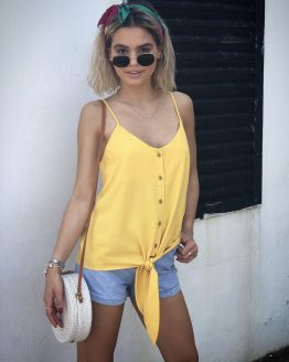 Sunshine Yellow Tie Cami