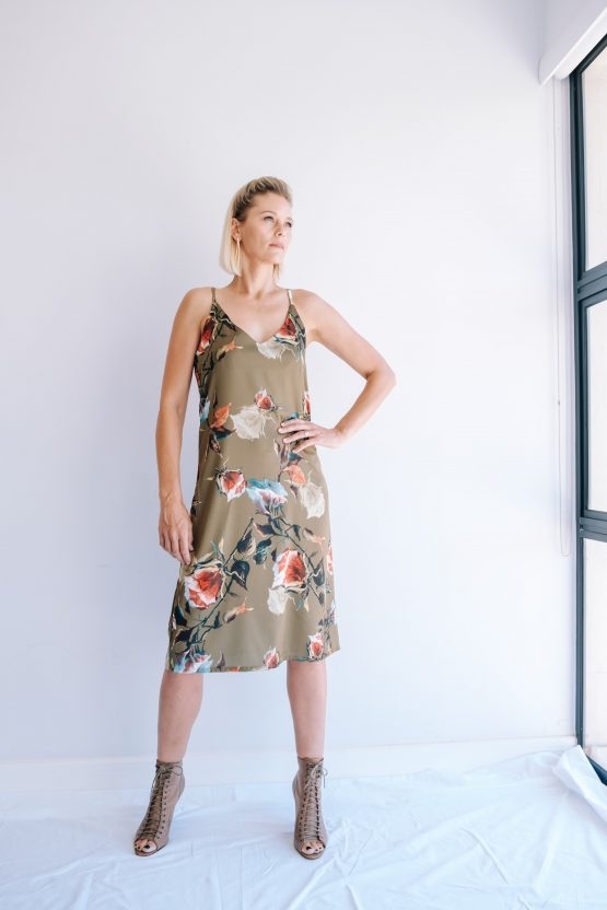 Aurora Floral Silky Slip Dress