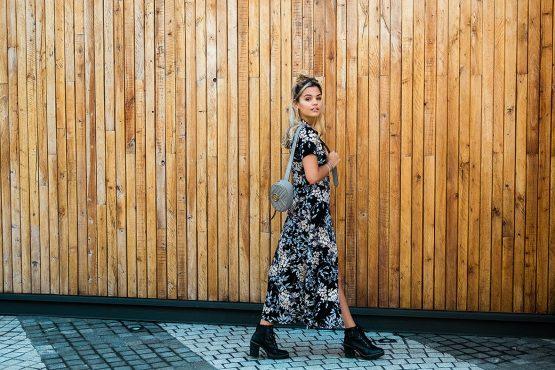 Oriental blossom dress