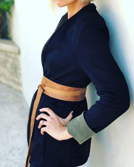 Reversible twill blazer