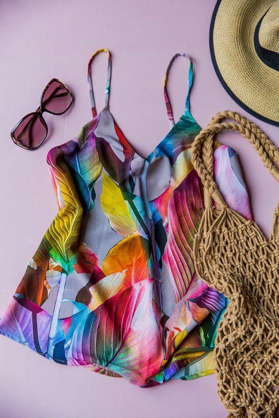Maye Multi-Colour Leaf Cami