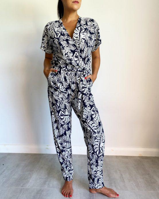 Capri Wrap Jumpsuit