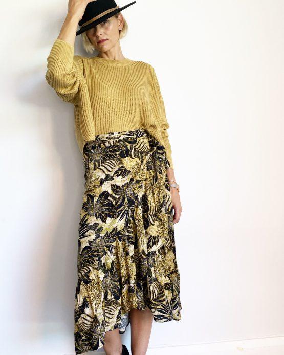 Gigi Ruffle Wrap Skirt