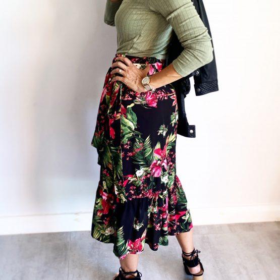 Livie Ruffle Wrap Skirt