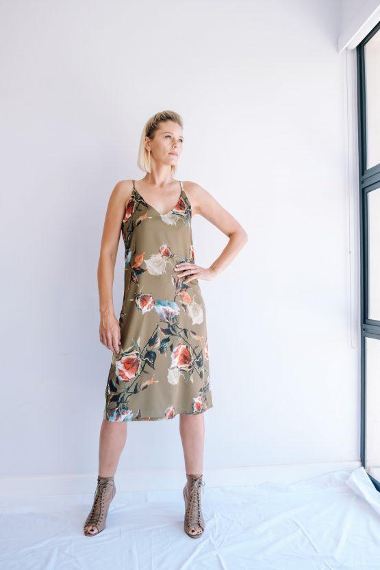 Aurora Floral Silky Slip Dress