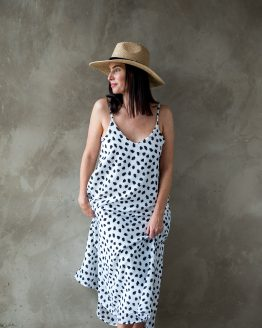 Lucy Spotted Maxi Dress