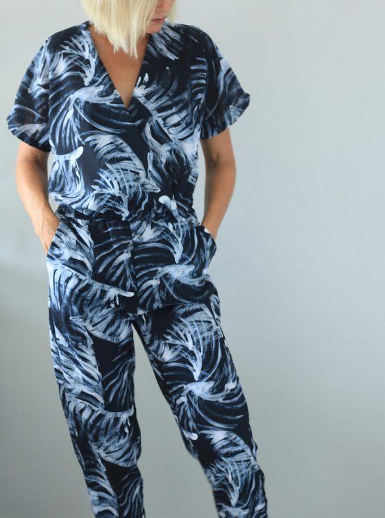 Nika Palm Wrap Jumpsuit
