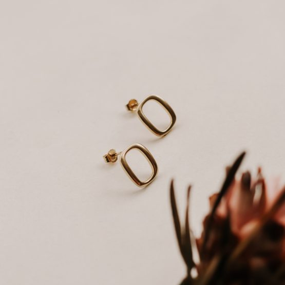 Square 'O' Rings - gold