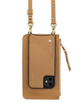 Tan cellphone case & pouch