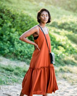 Romantic dress - Burnt Orange