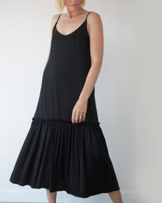 Silky Feel Romantic Dress